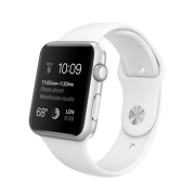 Apple Watch Watch Sport 42mm, Sport Band White, Stainless Steel Pin , Produktens ålder: 23 månader
