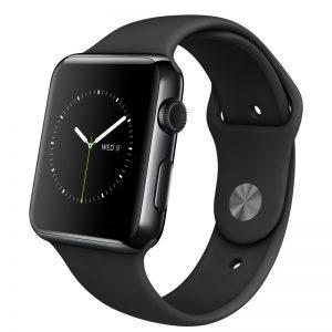 Apple Watch Watch Sport 38mm, Black Sports Band, Produktens ålder: 37 månader