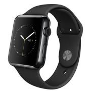 Apple Watch Watch Sport 42mm, Sport Band Black, Space gray stainless steel pin, Produktens ålder: 22 månader