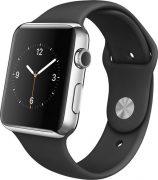 Apple Watch Watch Standard 42mm, Sport Band - Black - Stainless Steel Pin, Produktens ålder: 26 månader