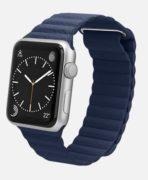 Apple Watch Watch Standard 42mm, Leather Loop Bright Blue Leather, Produktens ålder: 29 månader