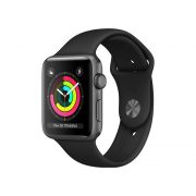 Watch Series 3 Aluminum Cellular (42mm), Space Gray, Black Sport Band