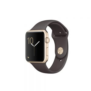 Watch Series 2 Aluminum (42mm), Gold, Brown sports band