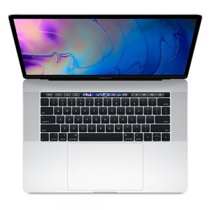 """MacBook Pro 15"""" Touch Bar Mid 2018 (Intel 6-Core i7 2.2 GHz 16 GB RAM 512 GB SSD), Silver, Intel 6-Core i7 2.2 GHz, 16 GB RAM, 512 GB SSD"""
