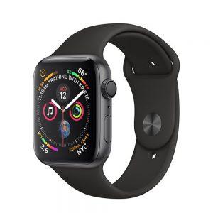 Watch Series 4 Aluminum (44mm), Space Gray, Black Sport Loop