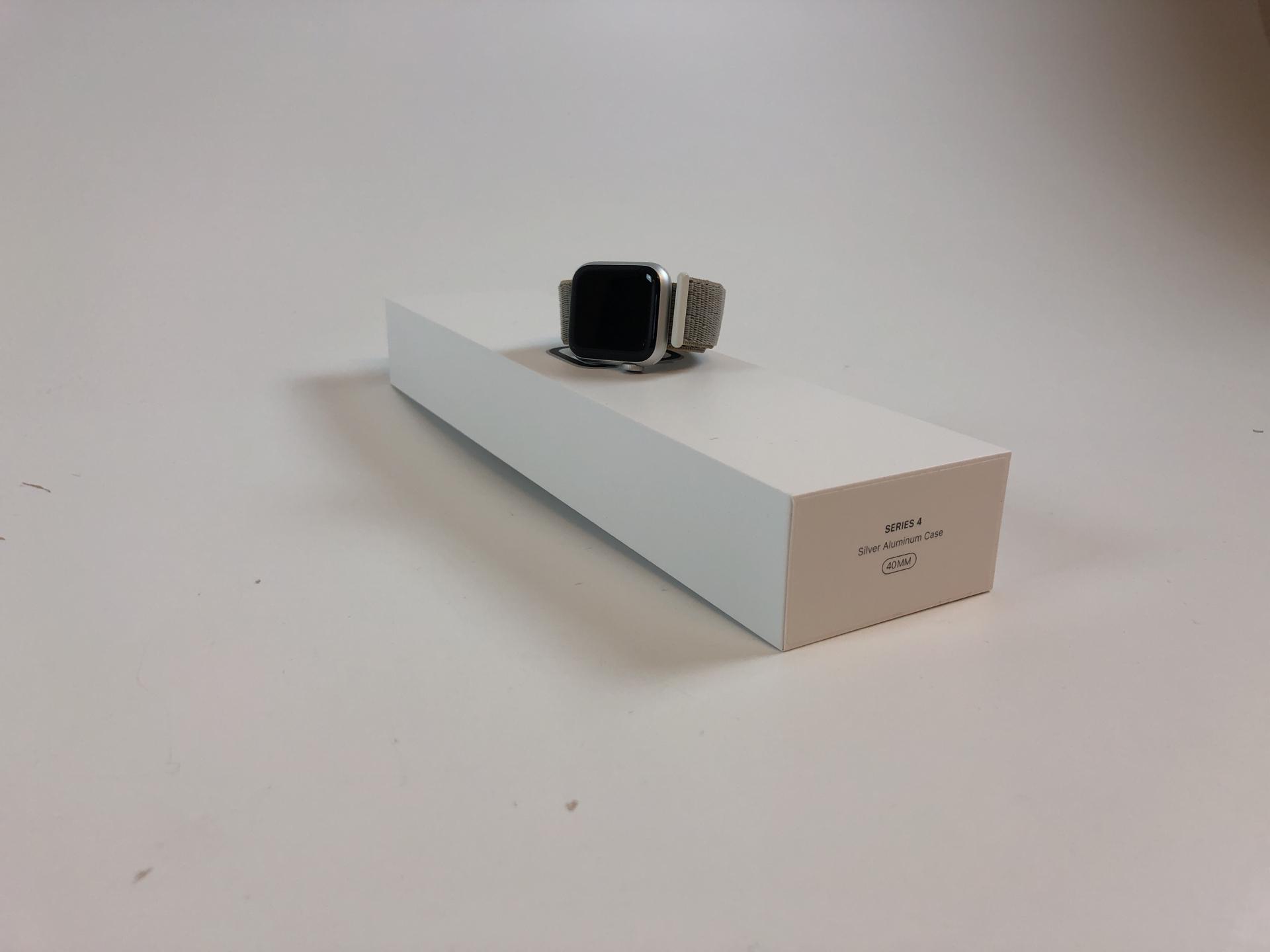 Watch Series 4 Aluminum (40mm), Silver, Seashell Sport Loop, bild 1