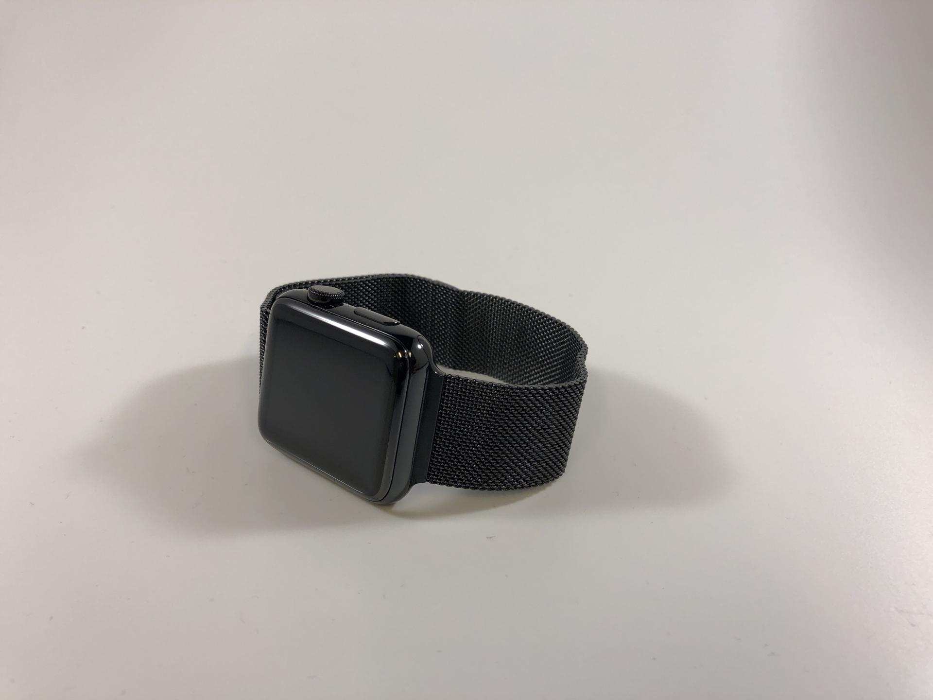 Watch Series 2 Steel (42mm), Space Black Stainless Steel, Space Black Milanese Loop, bild 1