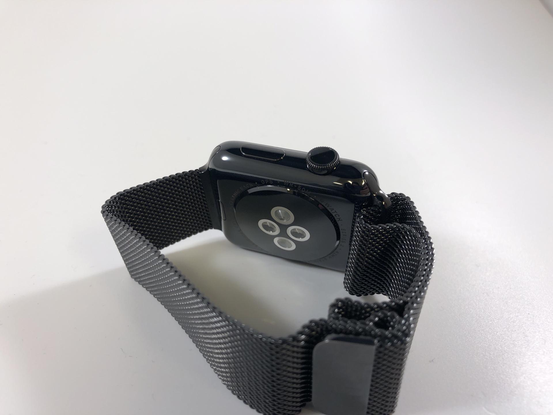 Watch Series 2 Steel (42mm), Space Black Stainless Steel, Space Black Milanese Loop, bild 2