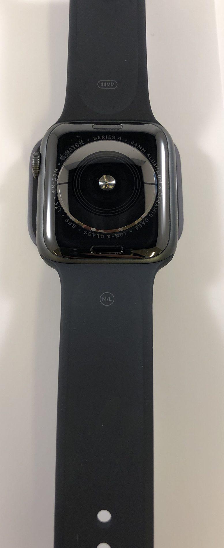 Watch Series 4 Aluminum Cellular (44mm), Space Gray, Black Sport Band, Bild 3