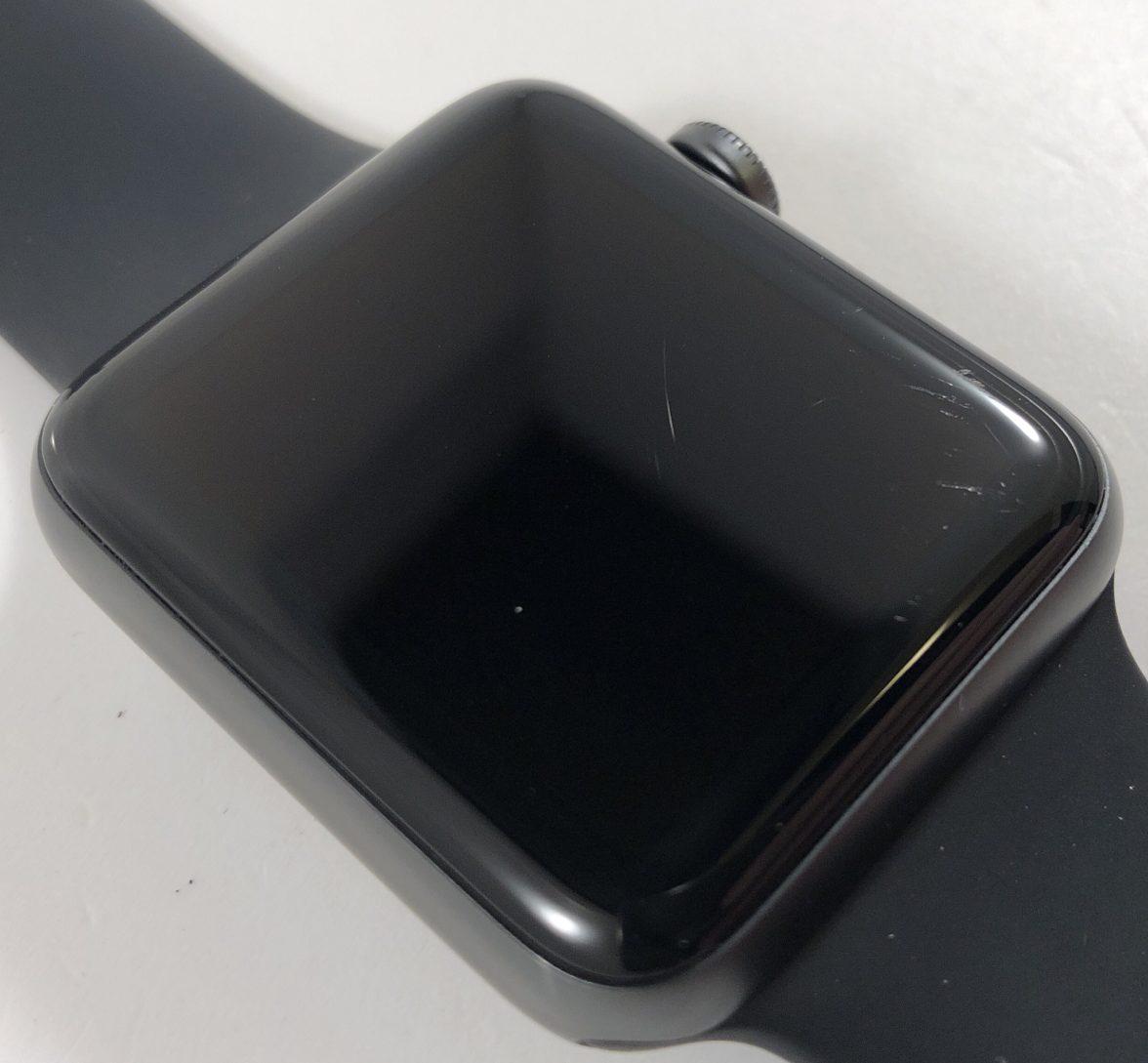 Watch Series 3 Aluminum Cellular (42mm), Space Gray, Black Sport Band, bild 2
