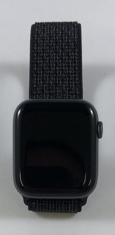 Watch Series 4 Aluminum (44mm), Space Gray, Black Nike Sport Loop, bild 1