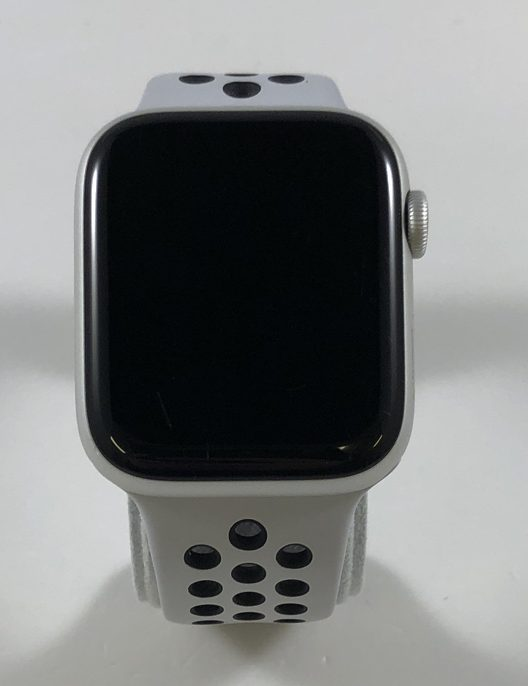 Watch Series 4 Aluminum Cellular (44mm), Silver, Pure Platinum/Black Nike Sport Band, imagen 1