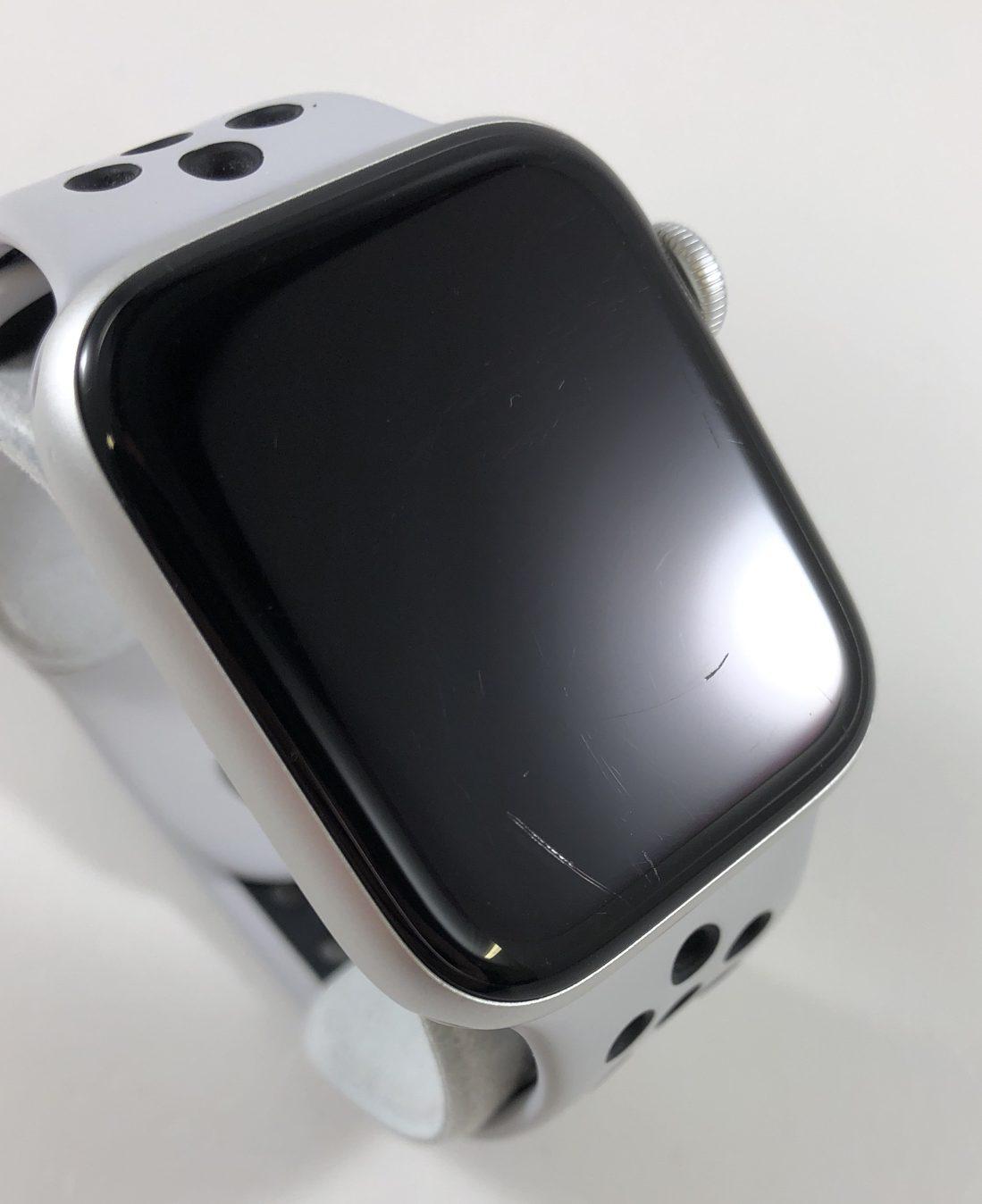 Watch Series 4 Aluminum Cellular (44mm), Silver, Pure Platinum/Black Nike Sport Band, imagen 2