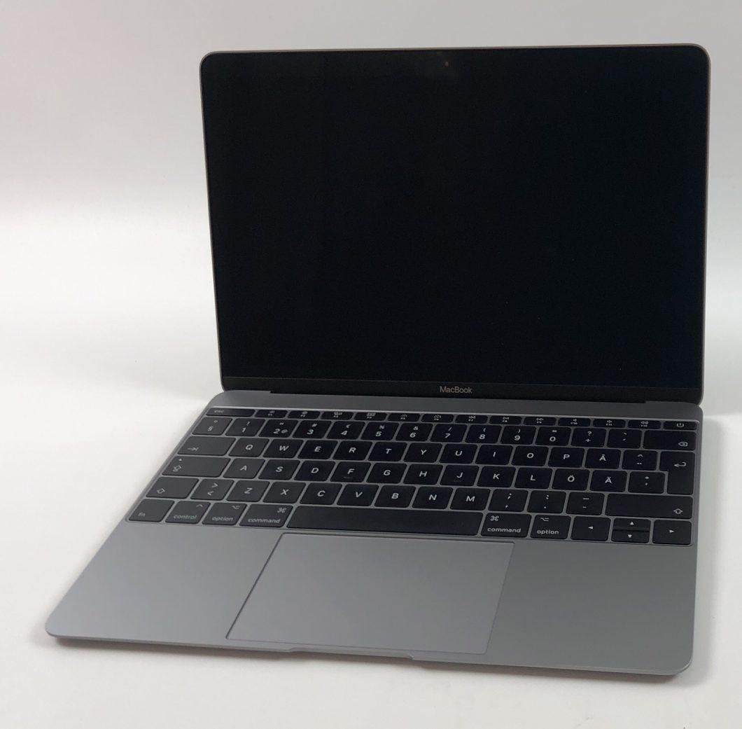 """MacBook 12"""" Mid 2017 (Intel Core m3 1.2 GHz 8 GB RAM 256 GB SSD), Space Gray, Intel Core m3 1.2 GHz, 8 GB RAM, 256 GB SSD, image 1"""