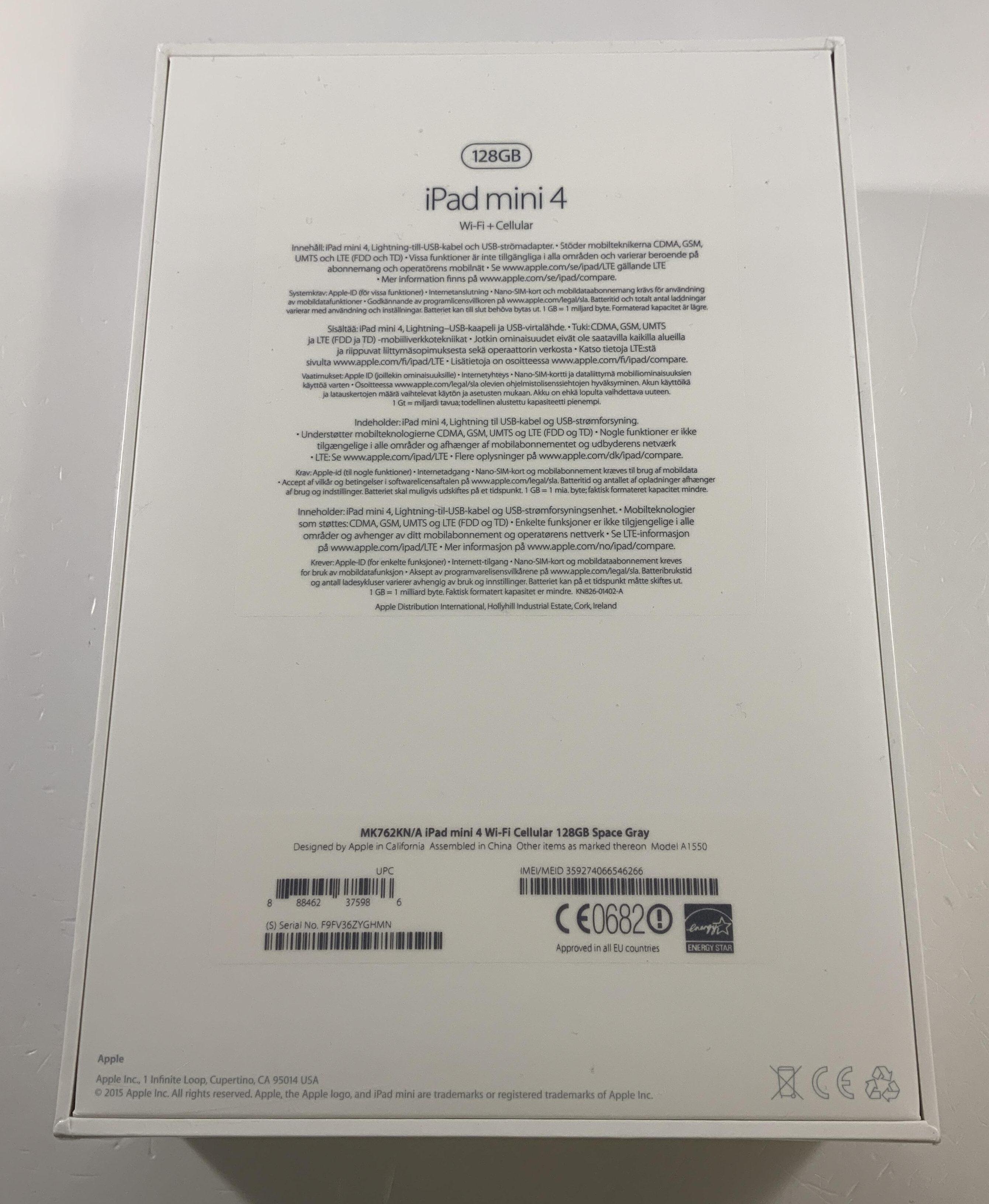 iPad mini 4 Wi-Fi + Cellular 128GB, 128GB, bild 2