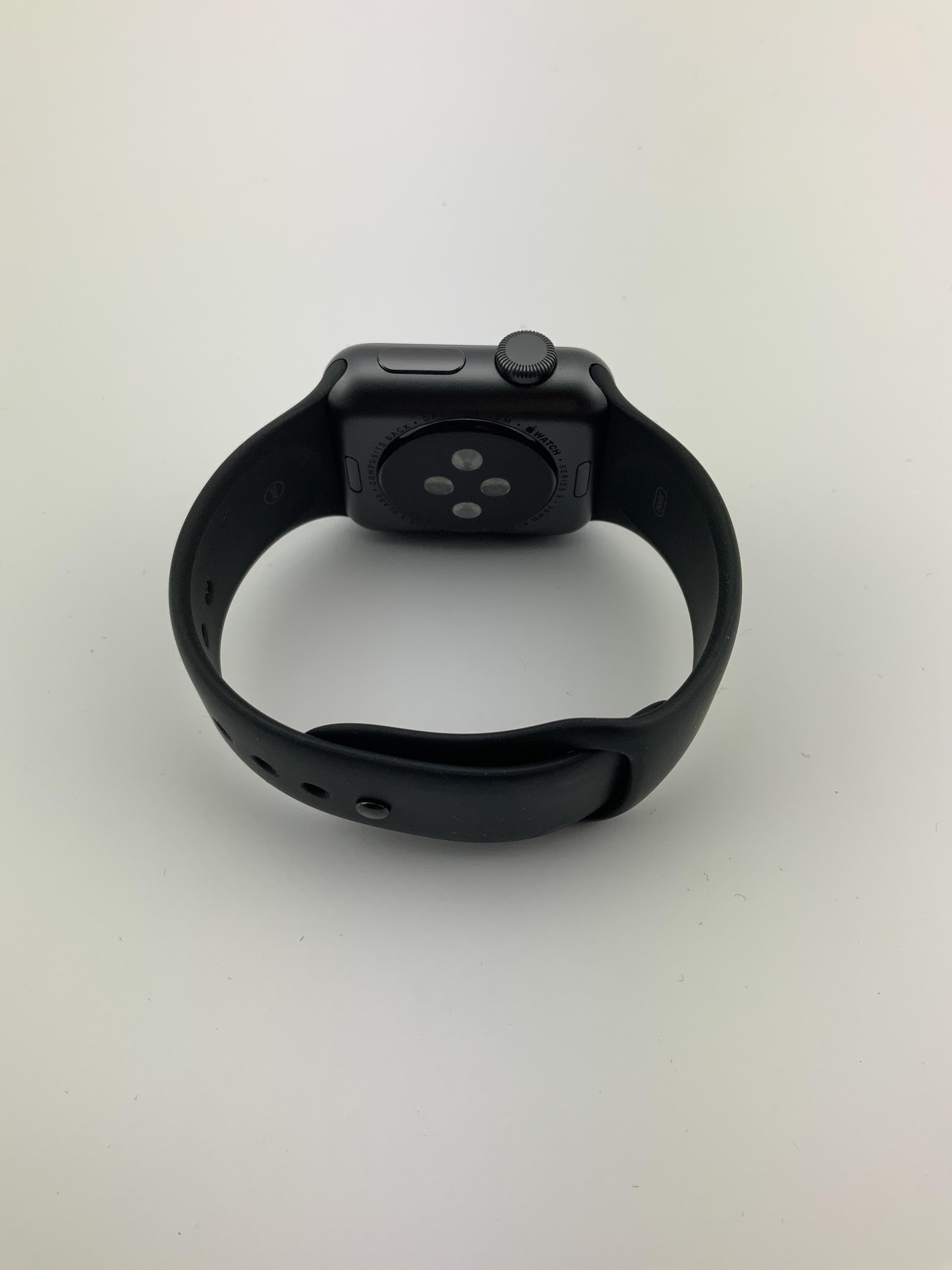 Watch Series 3 Aluminum (38mm), Space Gray, Black Sport Band, imagen 2