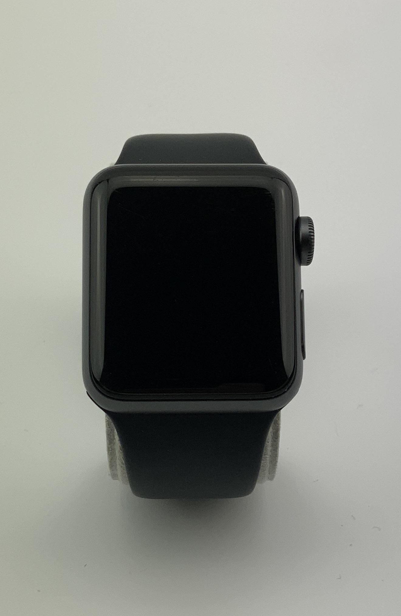 Watch Series 3 Aluminum (38mm), Space Gray, Black Sport Band, imagen 1