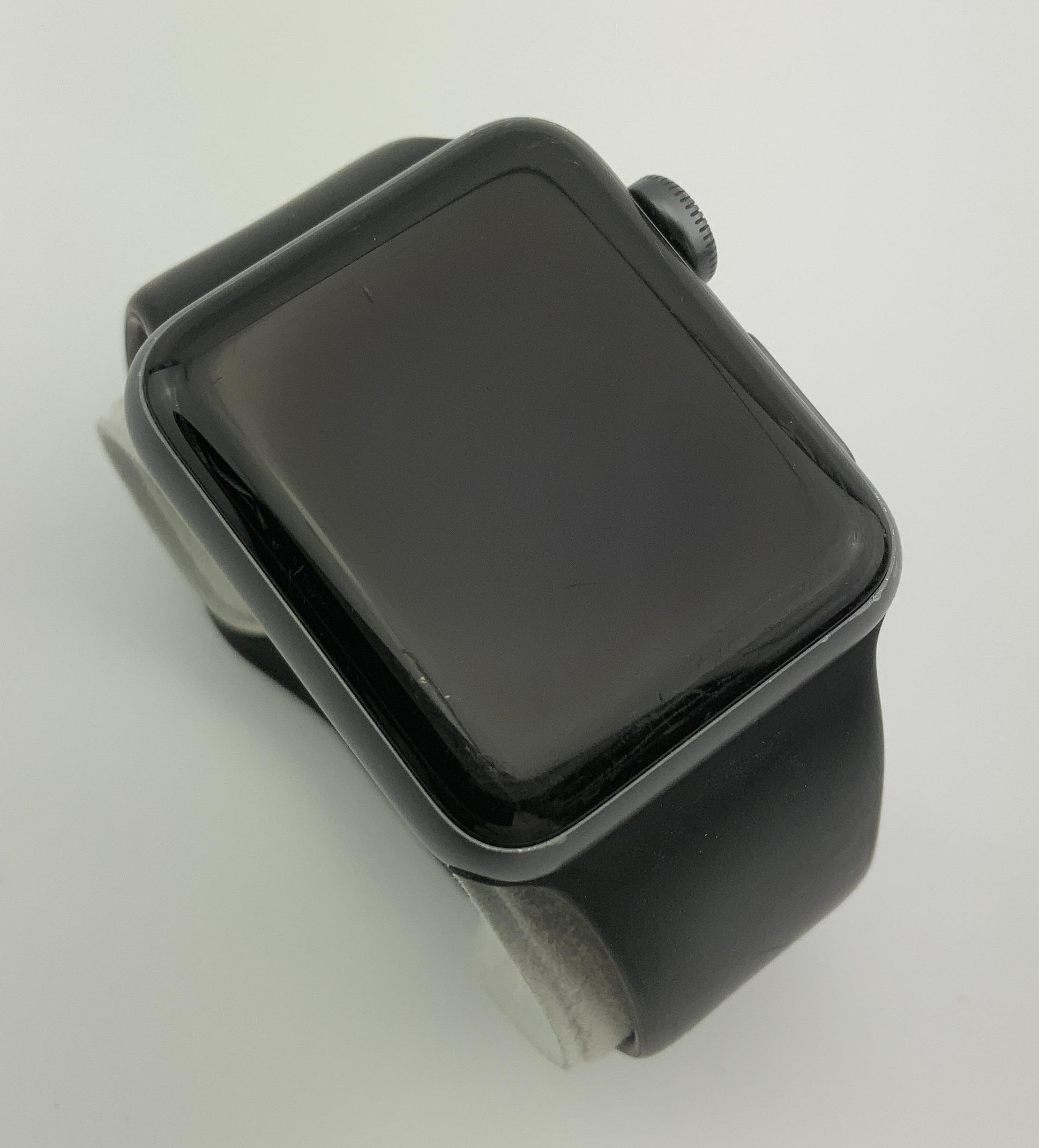 Watch Series 3 Aluminum (38mm), Space Gray, Black Sport Band, bild 2