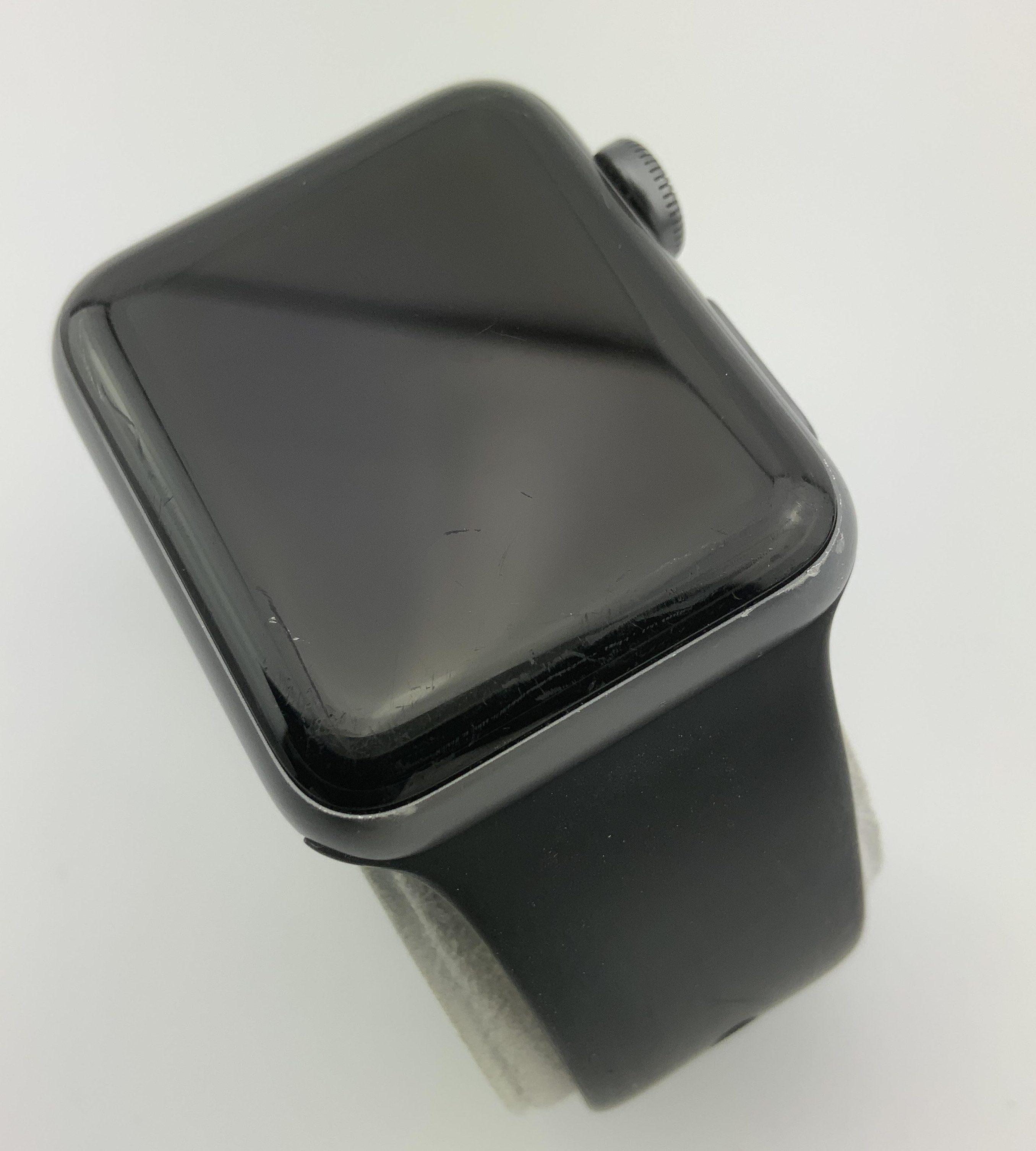 Watch Series 3 Aluminum (38mm), Space Gray, Black Sport Band, bild 3