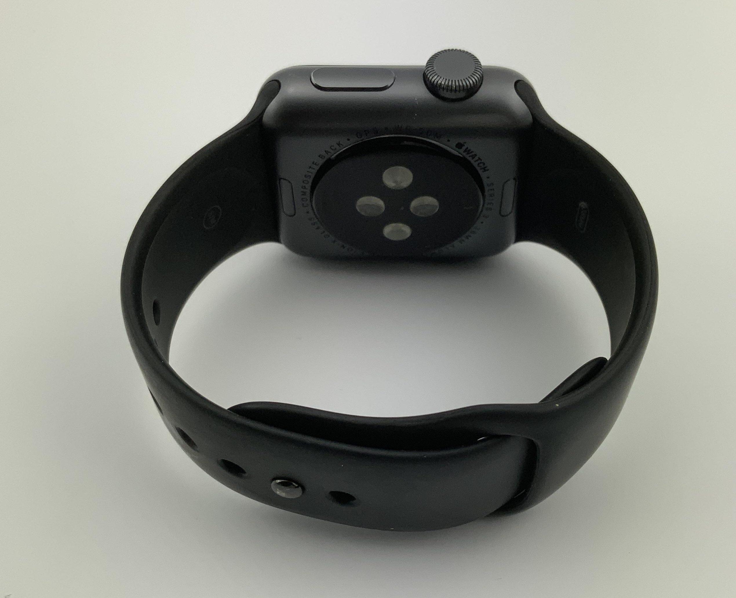 Watch Series 3 Aluminum (38mm), Space Gray, Black Sport Band, bild 4