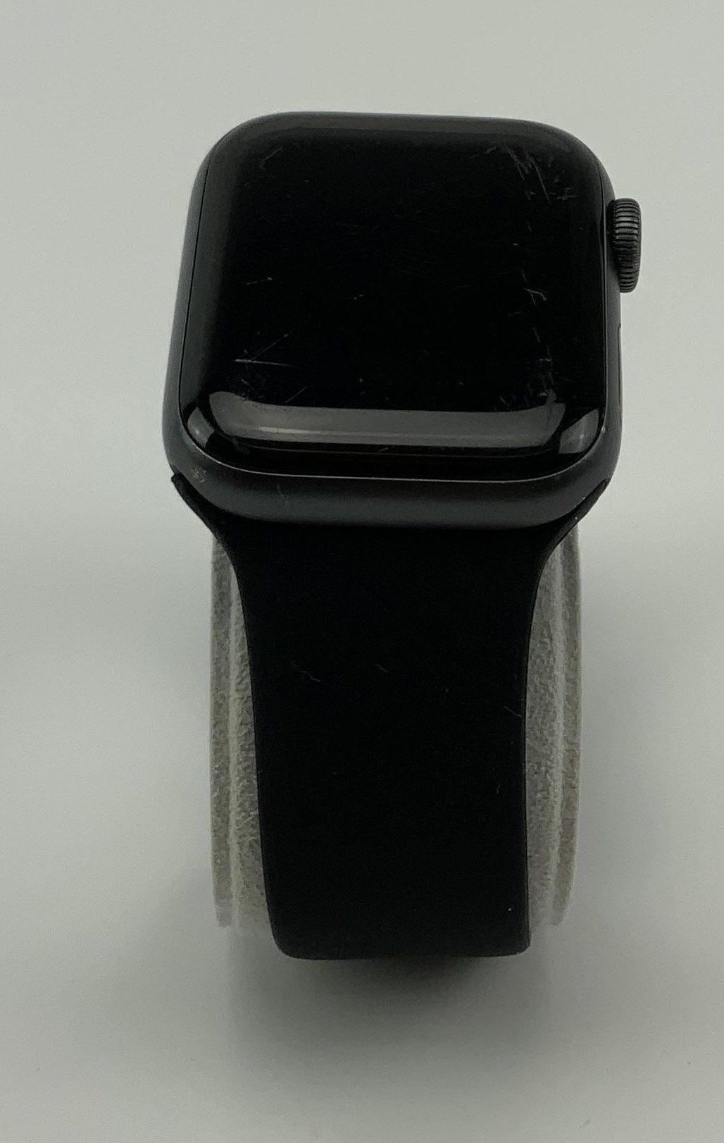 Watch Series 4 Aluminum (40mm), Space Gray, Black Sport Band, imagen 2