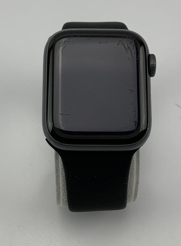 Watch Series 4 Aluminum (40mm), Space Gray, Black Sport Band, imagen 1