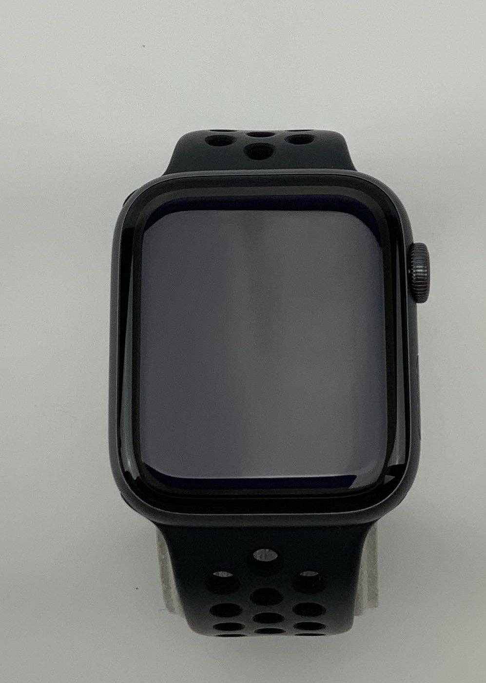 Watch Series 4 Aluminum Cellular (44mm), Space Gray, Black Nike Sport Loop, imagen 2