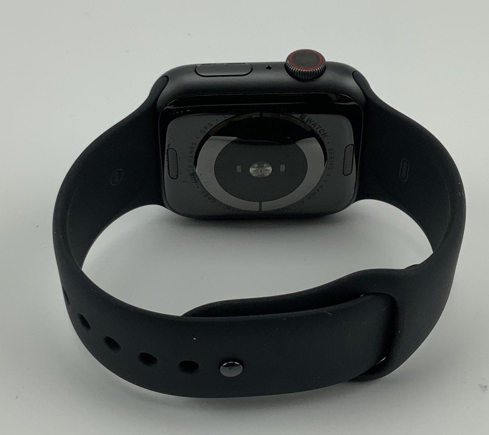 Watch Series 4 Aluminum Cellular (44mm), Space Gray, Black Sport Band, imagen 3
