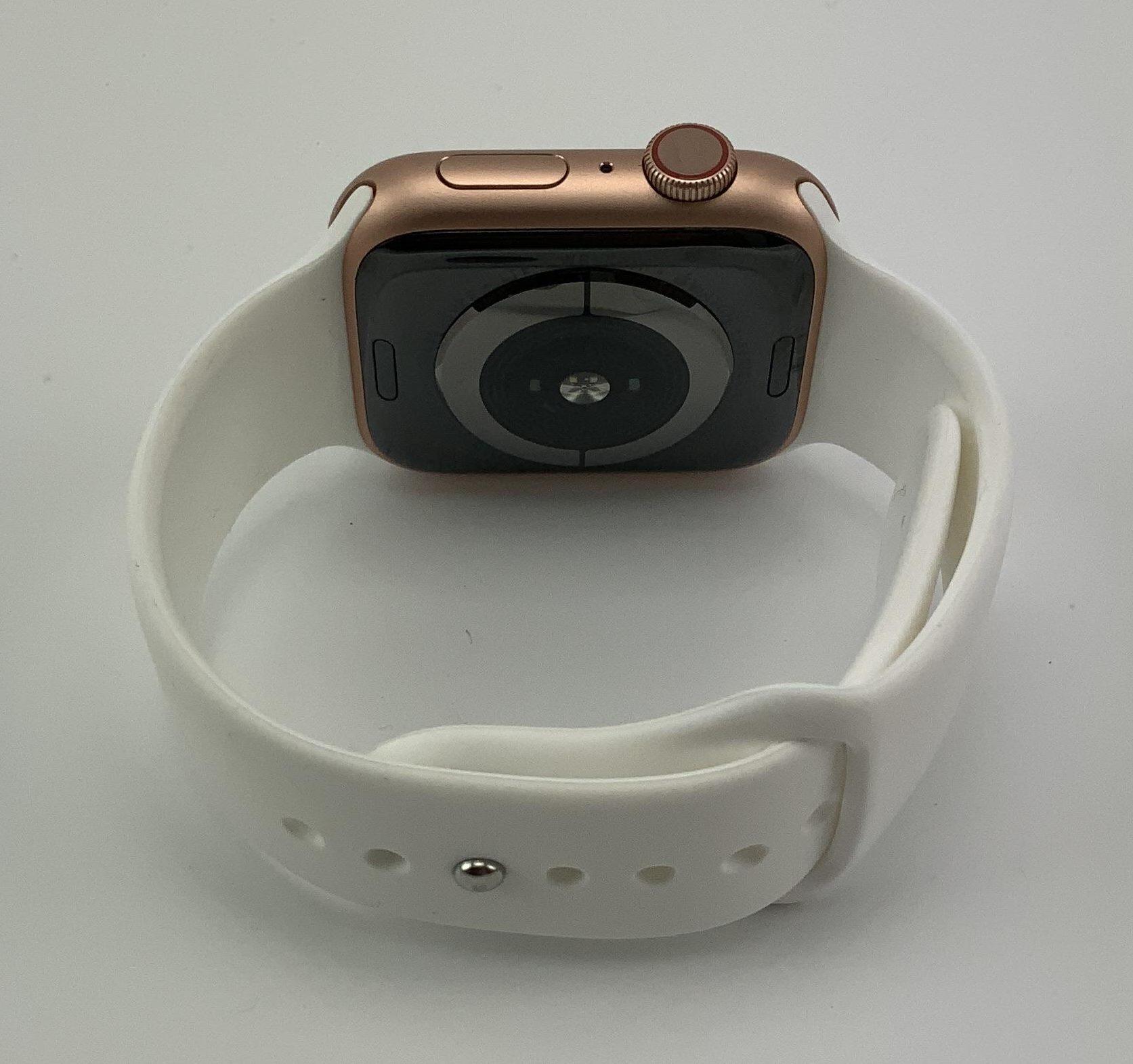 Watch Series 4 Aluminum Cellular (44mm), Gold, White Sport Band, Bild 2