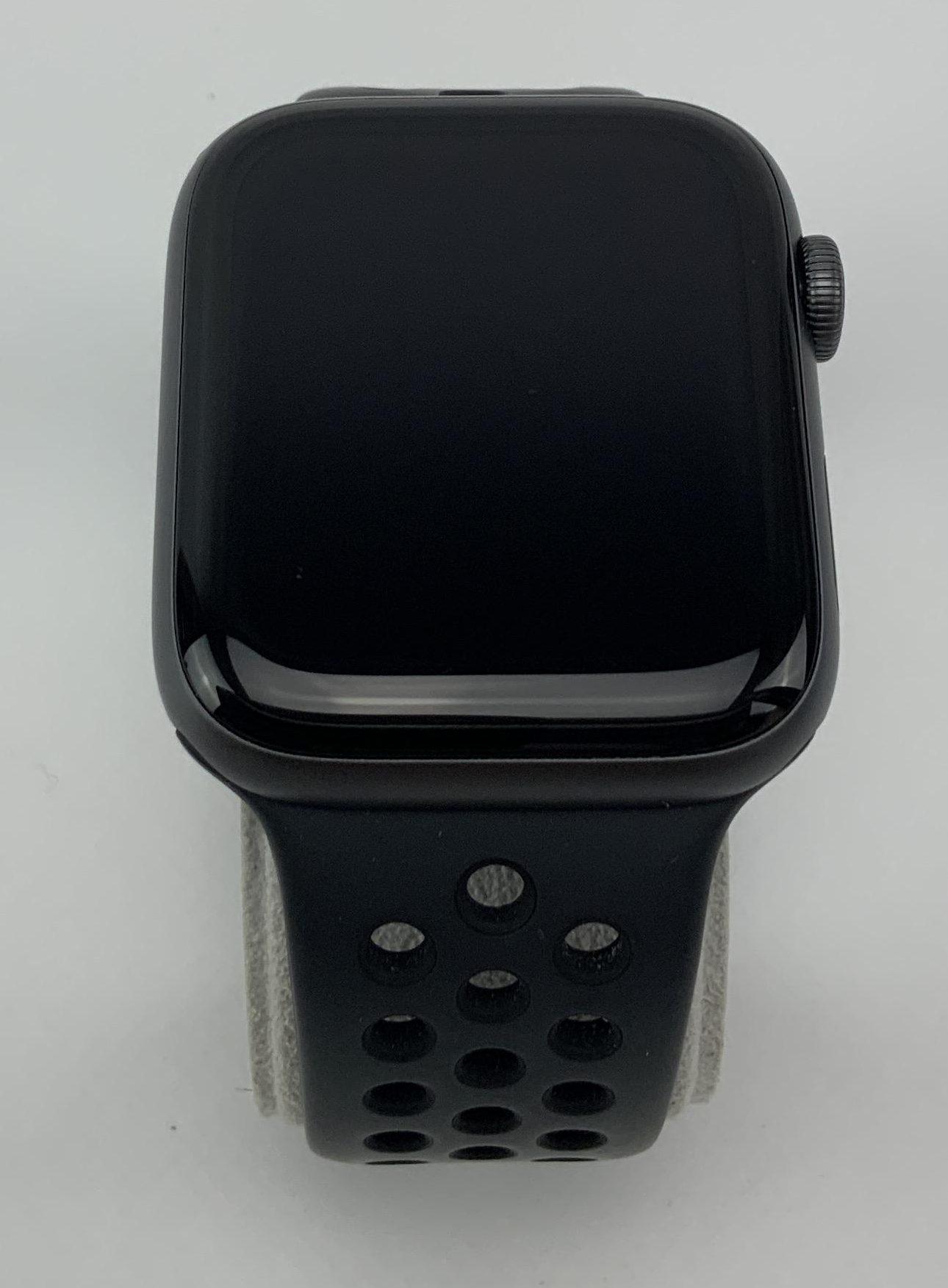Watch Series 4 Aluminum Cellular (44mm), Space Gray, Black Nike Sport Loop, imagen 1
