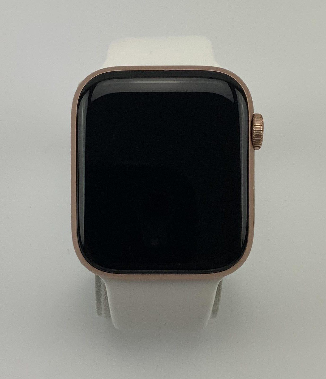 Watch Series 4 Aluminum Cellular (44mm), Gold, White Sport Band, Bild 1