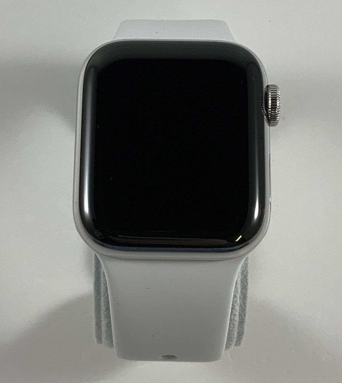 Watch Series 4 Steel Cellular (40mm), Silver, White Sport Band, bild 1